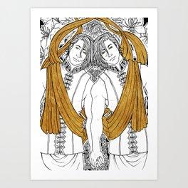 [Caelum Florescens] Gemini Art Print