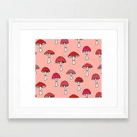 mushroom Framed Art Prints featuring Mushroom by Abby Galloway