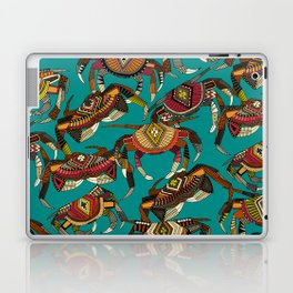 crabs teal Laptop & iPad Skin