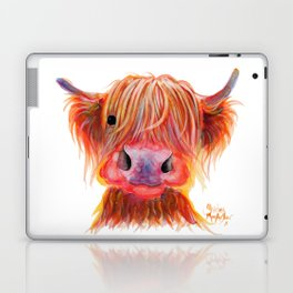 Scottish Highland Cow ' CHILLI CHOPS ' by Shirley MacArthur Laptop & iPad Skin