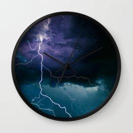 Lightning Strikes Wall Clock