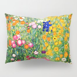 Flower Garden by Gustav Klimt vibrant Pillow Sham
