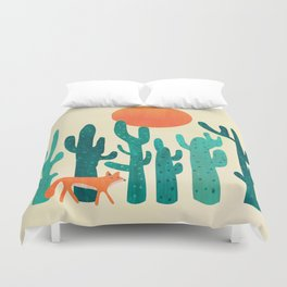 Desert fox Duvet Cover