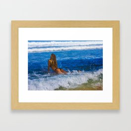 Jump In. Framed Art Print