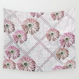retro pink daisies Wall Tapestry