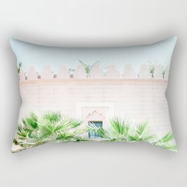 "Travel photography print ""Magical Marrakech"" photo art made in Morocco. Pastel colored. Rectangular Pillow"