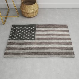 American flag, Retro desaturated look Rug