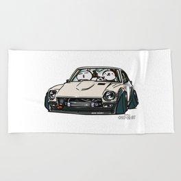 Crazy Car Art 0155 Beach Towel