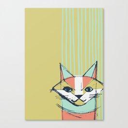 Cubist Cat Study #10 by Friztin Canvas Print