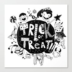 For Halloween - Trick or treat Canvas Print