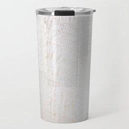 Vintage White Wood Travel Mug