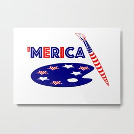 Merica - paint of USA for independence day 4th of july Metal Print