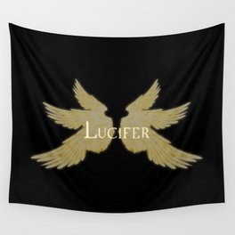 Lucifer with Wings Light Wall Tapestry