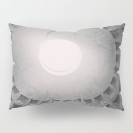 The Pantheon dome, architectural photography, Michael Kenna style, Rome photo Pillow Sham