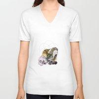 sacred geometry V-neck T-shirts featuring Sacred by Ashley Payne