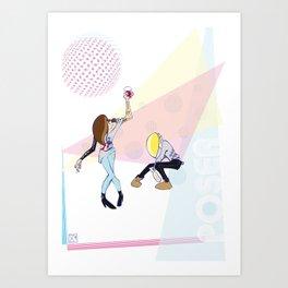 Poser - Disco Art Print