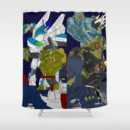 Robot Alchemic Jaeger Drive Shower Curtain