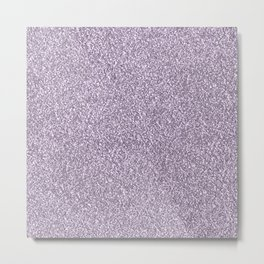 Abstract lavender lilac white faux glitter Metal Print
