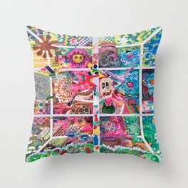 Subconsious Safari By Artist Jeff Parrott Psyexpression Throw Pillow