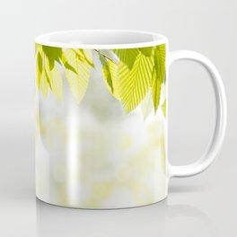 Elm green leaves and blurred space Coffee Mug