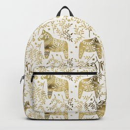 Swedish Dala Horses – Gold Palette Backpack