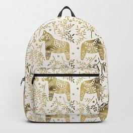 Swedish Dala Horses – Gold Palette Backpack