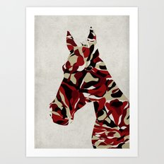 Camouflage Horse Art Print