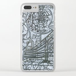 The Wall and the Writers Clear iPhone Case