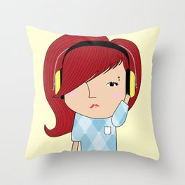Mss Musical Throw Pillow