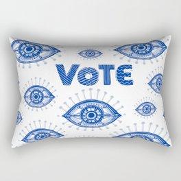 Vote Blue Rectangular Pillow