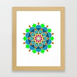 Meditation mandala in soft colors Framed Art Print