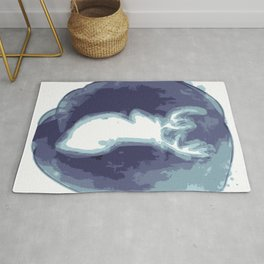 Minimal stag illustration Rug