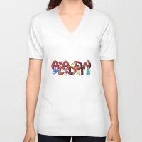 aladdin V-neck T-shirts featuring Aladdin  by Mix-Master