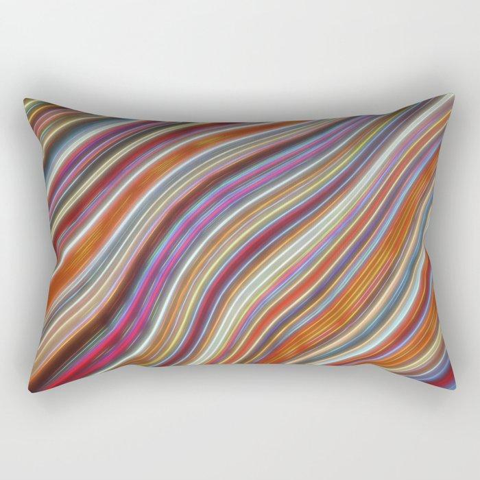 Wild Wavy Lines 16 Rectangular Pillow