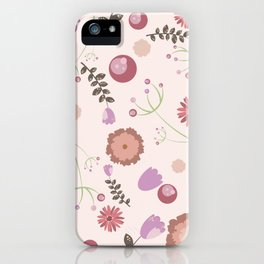 Flowers and Berries iPhone Case
