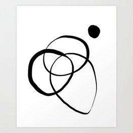 Free hand lines #114BW Art Print