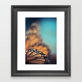 On the edge of Flying Framed Art Print