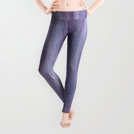 Touching Purple Blue Watercolor Abstract #1 #painting #decor #art #society6 Leggings