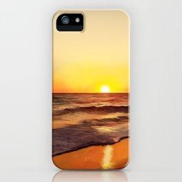 Sea sunset landscape Ionian sea Greece iPhone Case