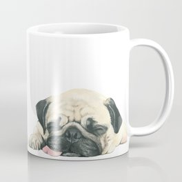 Nap Pug, Dog illustration original painting print Coffee Mug