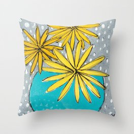Summer Flowers Throw Pillow