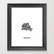 Berlin - Typocal Food Map Framed Art Print