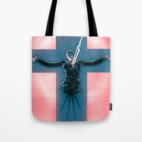 evangelion Tote Bags featuring Lilth from Evangelion by Barrett Biggers