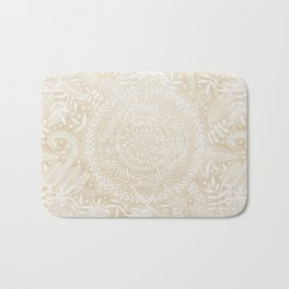 Medallion Pattern in Pale Tan Bath Mat