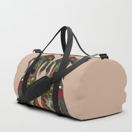 Great Dane love beige Duffle Bag