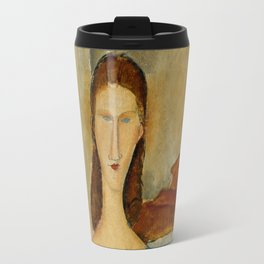 Amedeo Modigliani - Portrait Of Jeanne Hebuterne, Seated Travel Mug