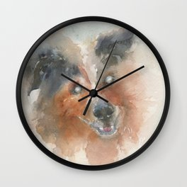 The Heart sees what the eyes can't Wall Clock
