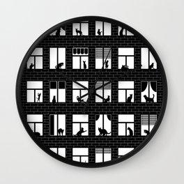 Feline Towers Wall Clock