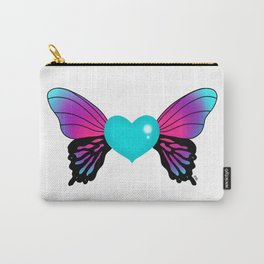 Painted Soul - Butterfly Heart Carry-All Pouch