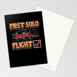 Pilot First Flight Airplane Aviator Glider Heli Stationery Cards